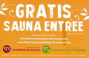 Gratis Sauna entree (Bussloo + Soesterberg) @ Telegraaf