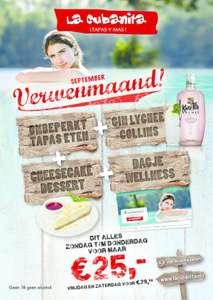 Onbeperkt tapas + gratis Welness voucher @ Lacubanita