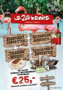 La cubanita, eten + cocktail + dierentuin
