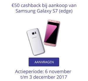 [UPDATE] Samsung Galaxy S7 (en Edge) €50 cashback @ KPN en Telfort