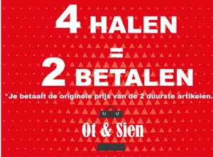 Ot en Sien —> 4 halen 2 betalen.