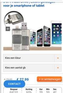 3 in 1 Flash Drive   Extern geheugen voor je smartphone of tablet
