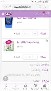 Dettol No Touch Starter + extra navulling Lotus