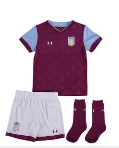 Aston Villa voetbalset voor 0-5 jarigen. shirt/broek/sokken (under armour). -70%.