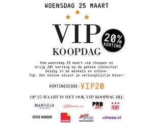 Woensdag VIP Koopdag - 20% korting op alles bij 8 winkels (o.a. Scapino, Actiesport en Dolcis)