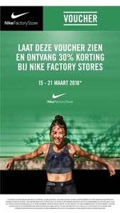 30% korting bij nike factory stores