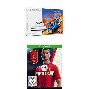 Xbox One S 1TB Console + Forza Horizon 3 + Hot Wheels DLC + FIFA 18 voor €198,29 @ Amazon.de