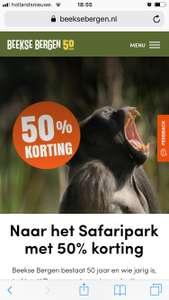 50 % korting safari park Beekse bergen