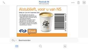 Gratis kop koffie / thee @kiosk Zwolle