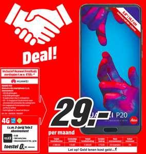 2 jarig abonnement: Huawei P20 voor 336 euro + gratis Huawei Freebuds bluetooth  headset ter waarde van 159 euro.