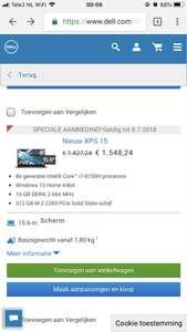 €250,- korting op Dell XPS 9570 (i7 | 16GB | 512GB | FULL HD)