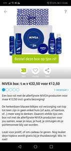Nivea box voor maar 12,50 incl verzending