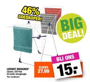 Leifheit Classic 200 flex droogrek €15 @ Big Bazar
