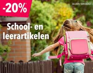 Alleen vandaag 20% korting op school- en leer artikelen @ Toysrus