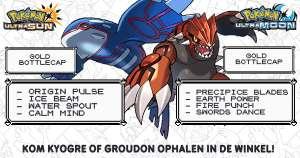 Gratis Kyogre & Groudon voor Pokémon (Ultra) Sun & Moon bij GameMania