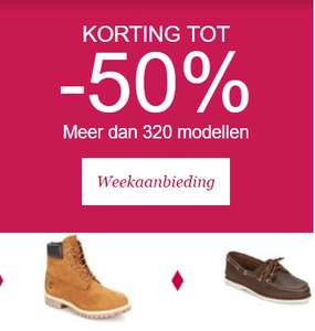 Tot 50% korting op Timberland schoenen en kleding | Spartoo