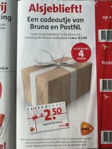Lever je postzending in bij Bruna en ontvang een cadeaukaart twv €2,50