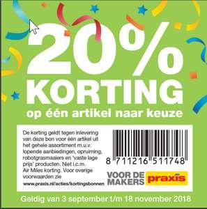 20% korting bij Praxis