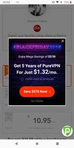 Purevpn 5 jaar voor €1.16 euro per maand