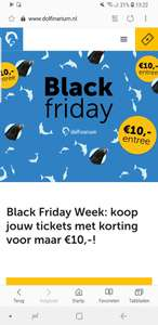[Black Friday] Entree dolfinarium 10 euro