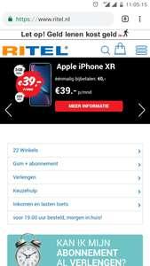 iPhone XR 64GB  i.c.m Tele2 abonnement voor €600,-