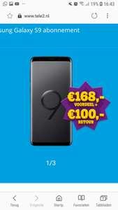 Galaxy S9 icm Tele2 Maandelijks opzegbaar voor €426