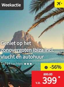 Verblijf 1 of 2 weken op het zonovergoten Ibiza incl. vlucht en autohuur vanaf €399 p.p.     Lidl