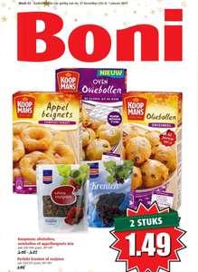 Koopmans oliebollen appelbeignets mix en appeltaart/cake mix 2 stuks 1.49 (Boni)
