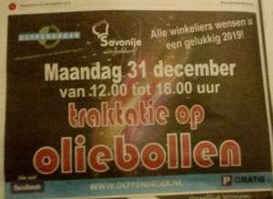 [lokaal] gratis oliebollen in Enschede