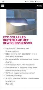 Eco Solar LED Buitenlamp met Bewegingssensor