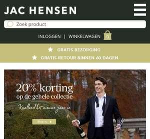 20% korting op alles bij Jac Hensen!!!