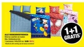 Dekbedovertrekken 1+1 gratis @ Big Bazar