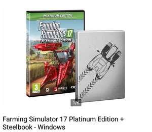 Farming Simulator 17 Platinum Edition + Steelbook - Windows voor €9,00 || Bol.com
