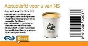 Gratis Kopje Koffie of Thee bij Kiosk op NS Stations