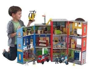 Brandweer en politie poppenhuis