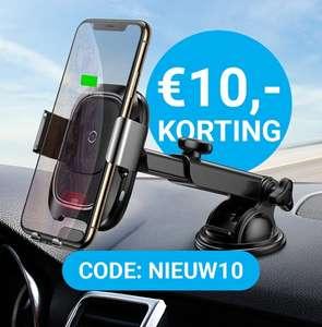 Nu €10,- korting op de beste autohouder met QI draadloos opladen @ Gsmpunt