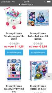 Disney Frozen speelgoed sale bij Telekidstoys