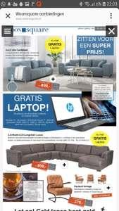 Gratis laptop bij aankoop elk bankstel, hoekbank of compleet interieur @WoonSquare