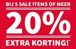 Actie: 20% extra korting (va 5 stuks) / instore 3 = 2 @ Coolcat