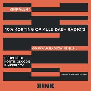 10% korting op alle DAB+ radio's - KINK