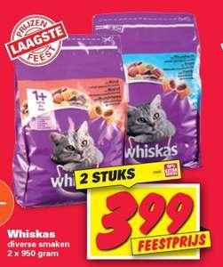Whiskas,diverse smaken 2 x 950gram