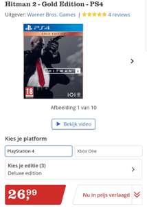 Hitman 2 Gold Edition PS4 voor €26,99 (Xbox One - €21,99)