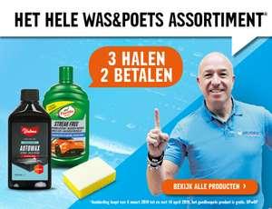 3 halen 2 betalen op was en poets producten @halfords.nl