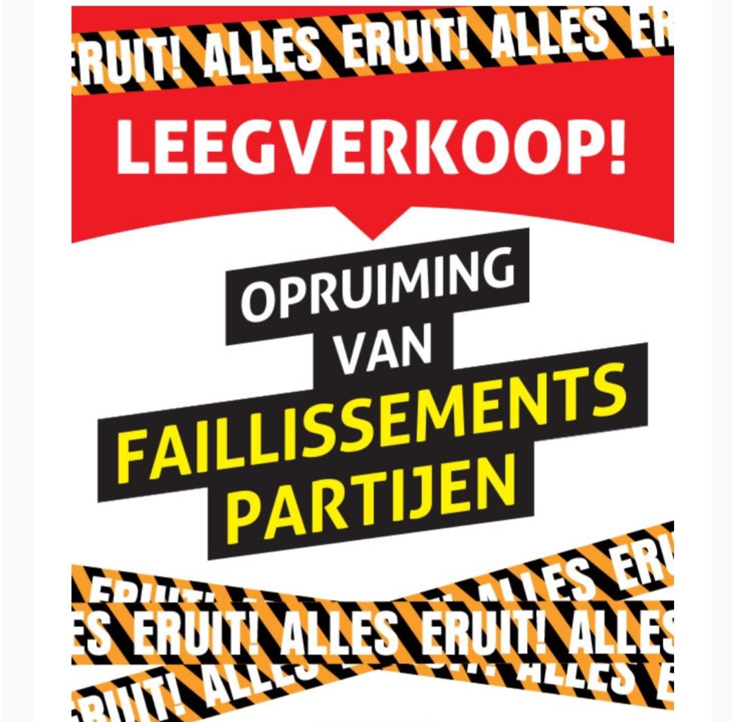 Leegverkoop van Faillissements partijen @ Op=Op voordeelshop