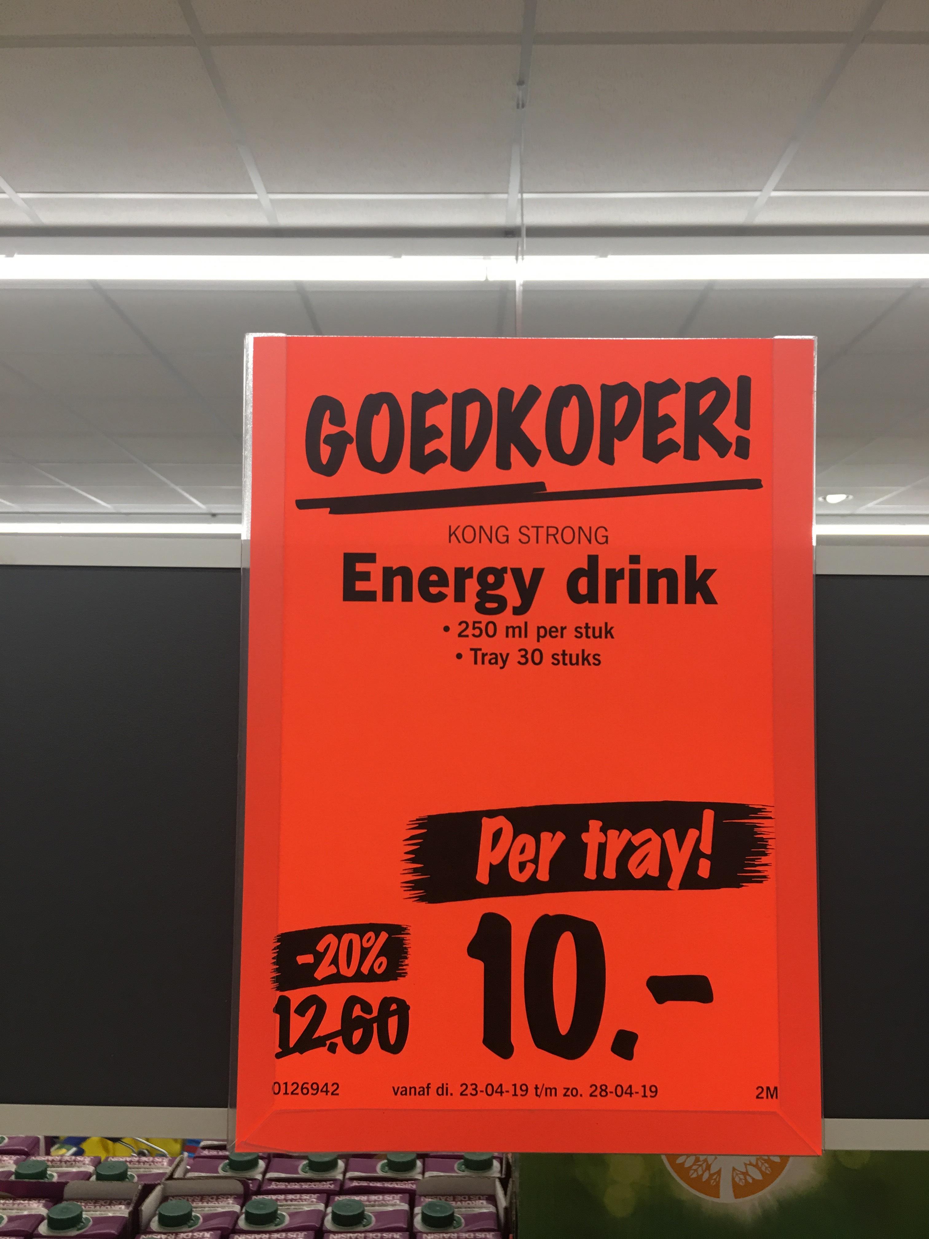 30 Kong Strong-energiedrank voor € 10,-
