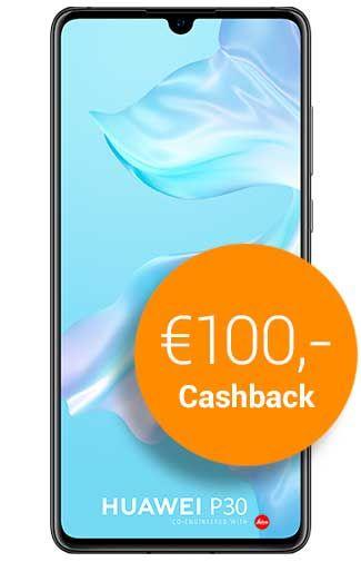 Huawei p30 met €100,- cashback bij belsimpel.nl