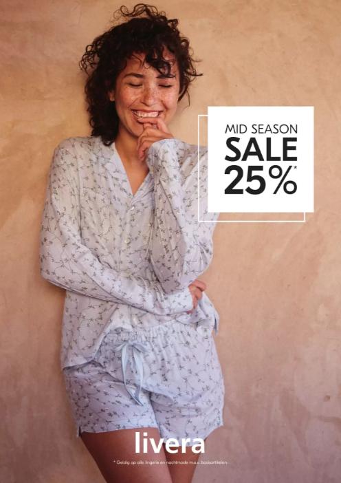 Mid Season Sale - 25% korting @Livera