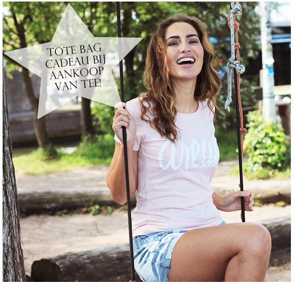 GRATIS tas bij aankoop van een t-shirt @Hipvoordeheb