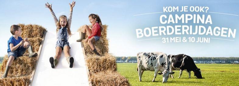 Gratis naar campina boerderijdagen op 31 mei en 10 juni @ Campina