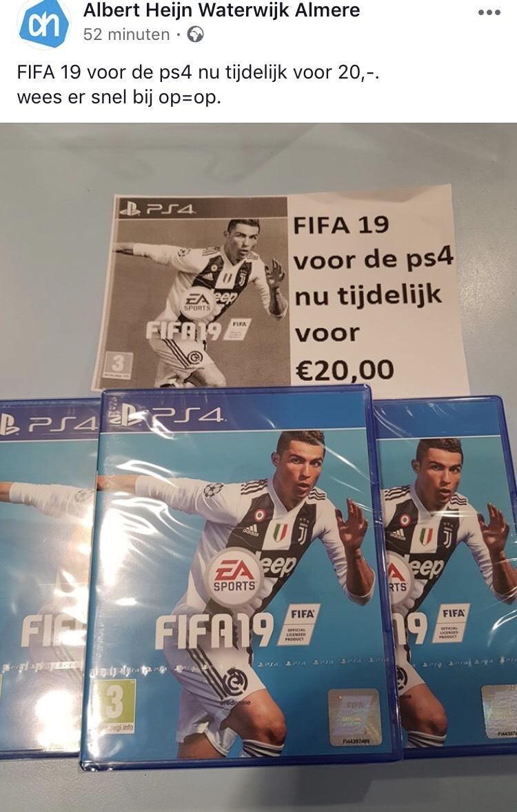 FIFA 19 €20 - Lokaal @AH Almere